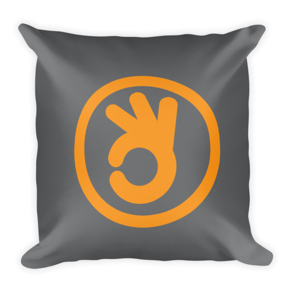 I Quit Pillow Orange