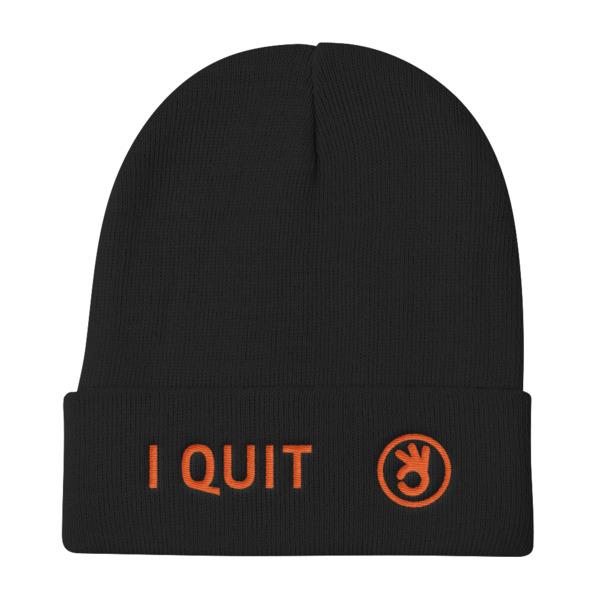 I Quit Beanie Orange