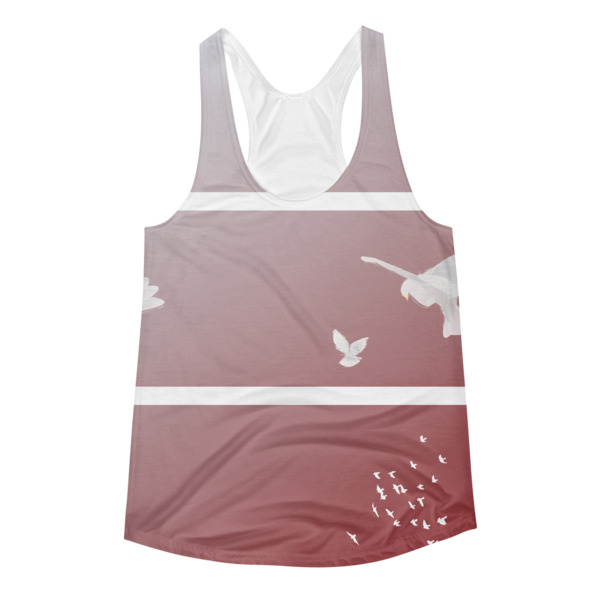 Doves Triptych Tank Women