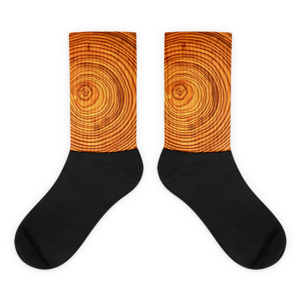 Cabin Cloth Socks Wood