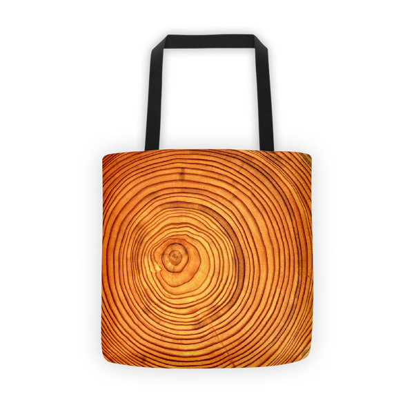 Cabin Cloth Tote Wood