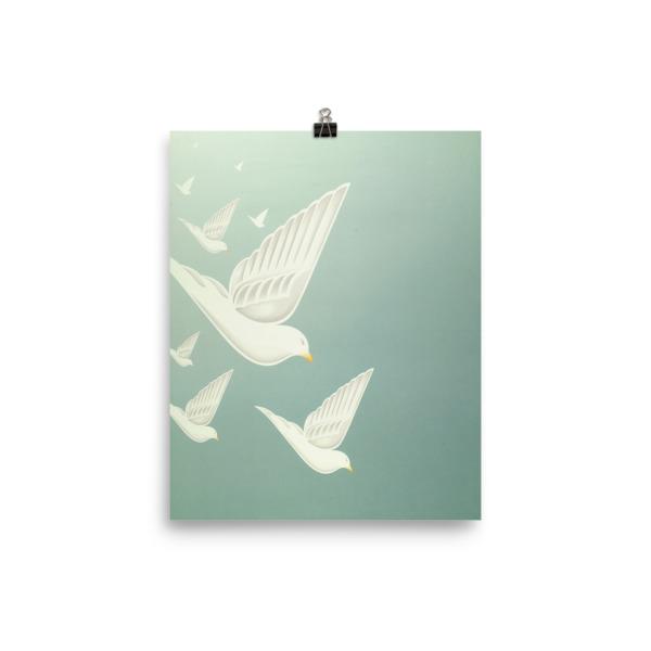 Diving Doves Poster