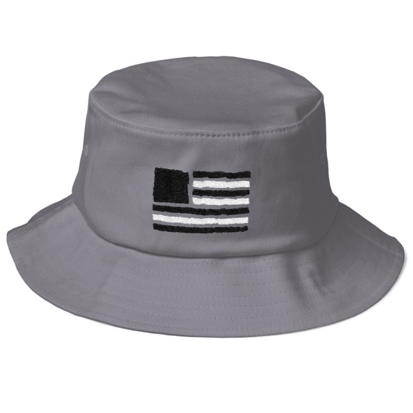 Old Time Hockey Tape Flag Bucket Hat