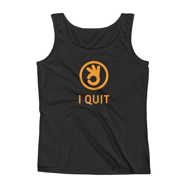 I Quit Tank Women Orange