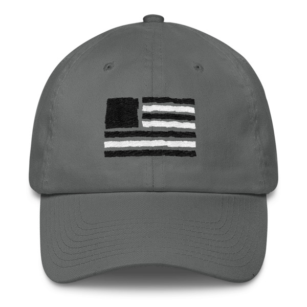 Old Time Hockey Tape Flag Buckle Hat