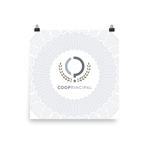 Cooperative Principal Poster Guilloché