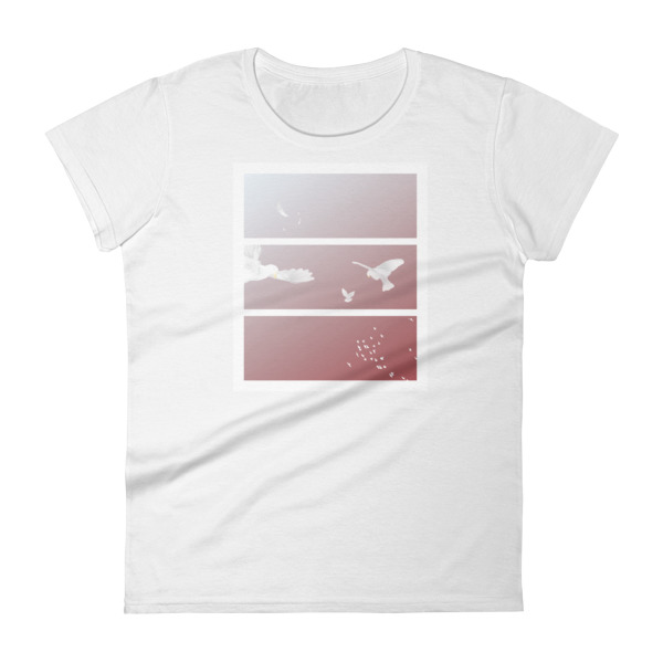 Doves Triptych Tee Women