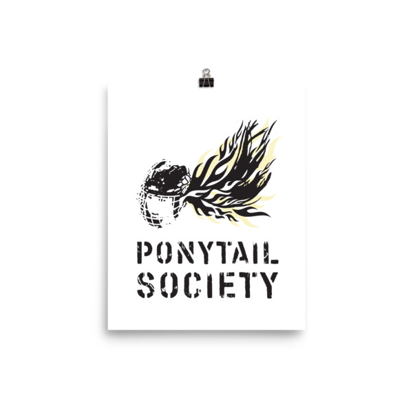 Old Time Hockey Ponytail Society Poster