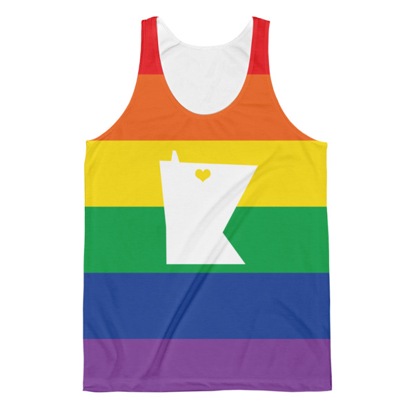 Equal Equals Love Pride All Over Men's Tank