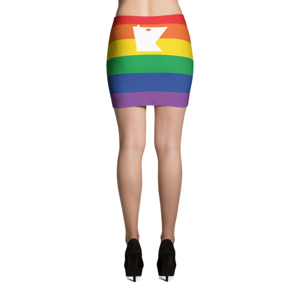 Equal Equals Love Pride Mini Skirt