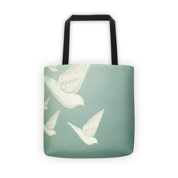 Diving Doves Tote