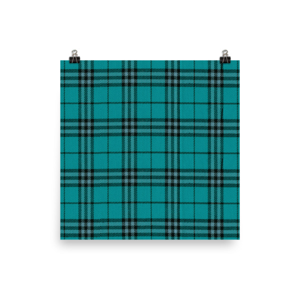 Cabin Cloth Poster Plaid
