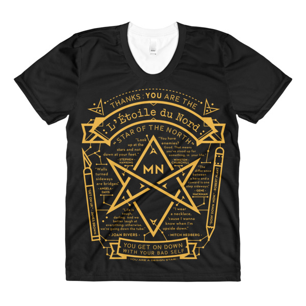 North Star Tee Women Black