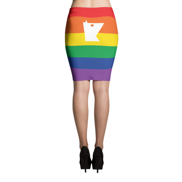 Equal Equals Love Pride Pencil Skirt
