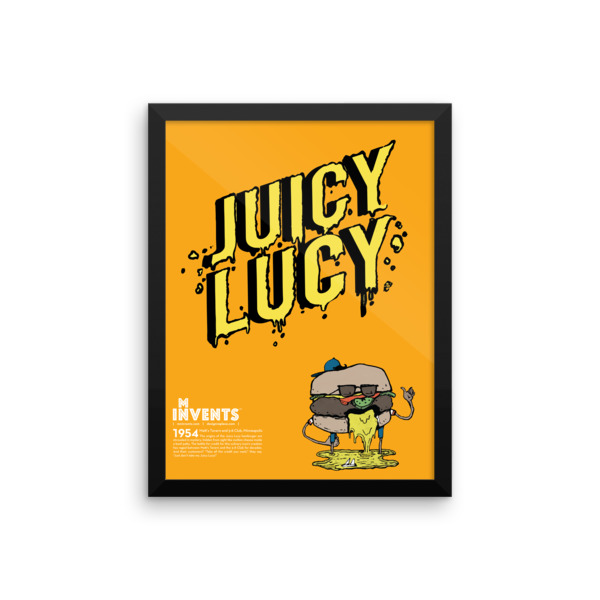 Juicy Lucy Poster Framed