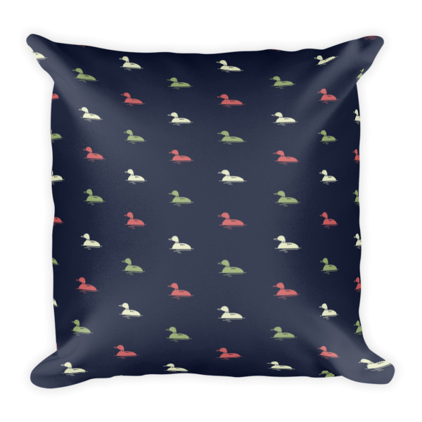 Nokomis Loon Pattern 4 Square Pillows