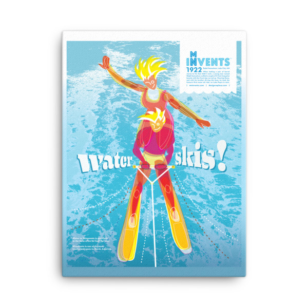 Water Skis Poster Canvas