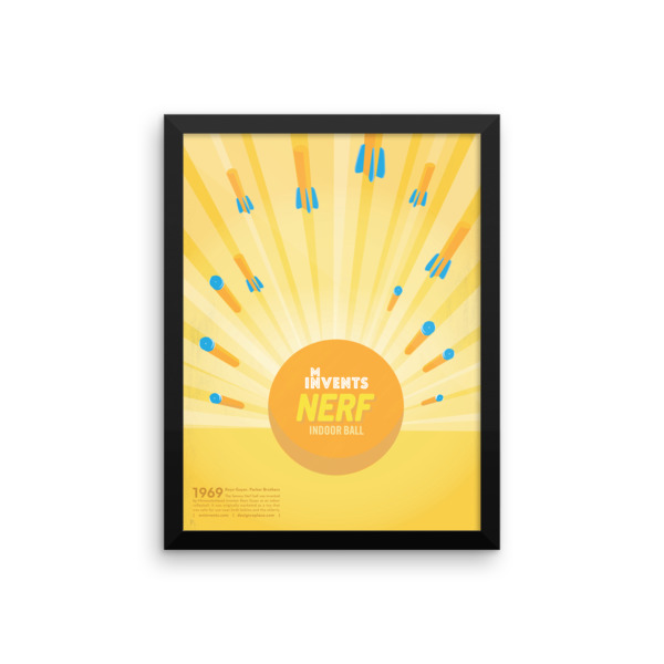 Nerf Indoor Ball Poster Framed