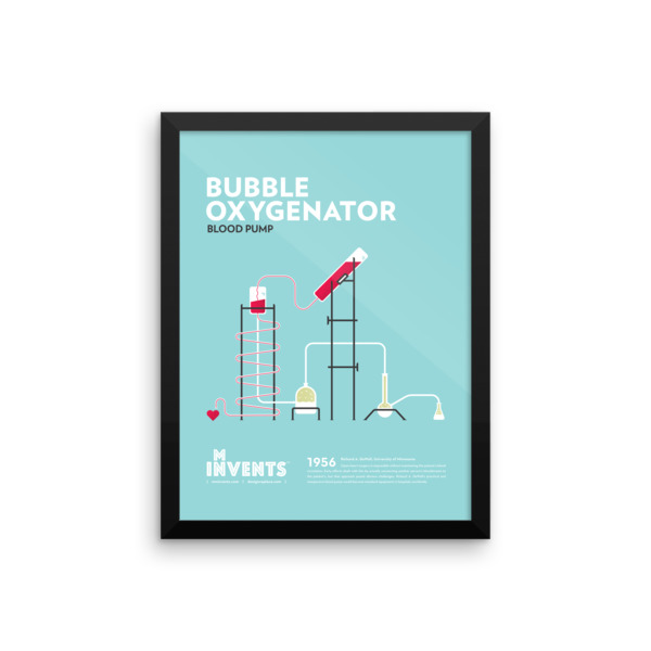 Bubble Oxygenator Poster Framed