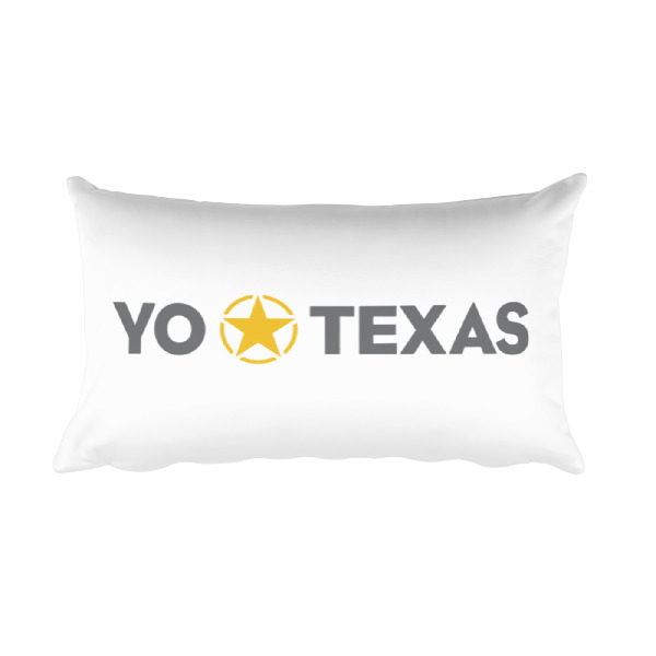 I Lone Star Texas/Yo Estrella Solitaria Texas Pillow White