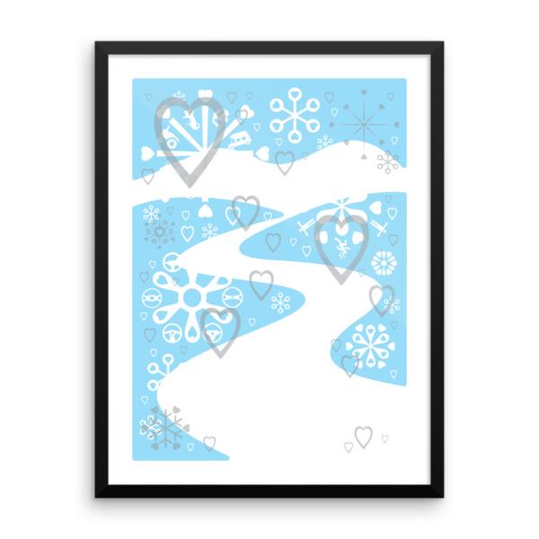 Winter Wandering Poster Framed