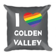I Pride Golden Valley Pillow Gray