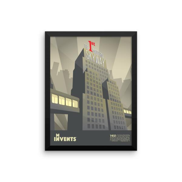 Skyway Poster Framed