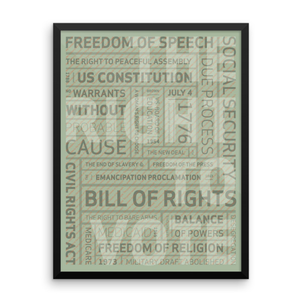 Right To Vote Poster Framed