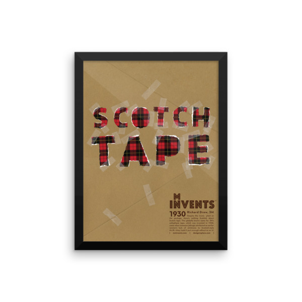 Scotch Tape Poster Framed