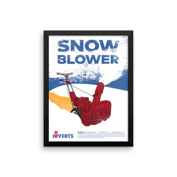 Snow Blower Poster Framed