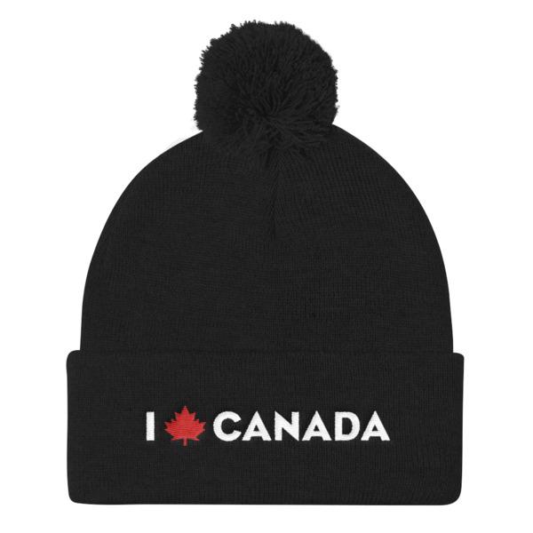 6e1d7be6747 I Maple Canada Pom Pom Beanie - replaceeverything