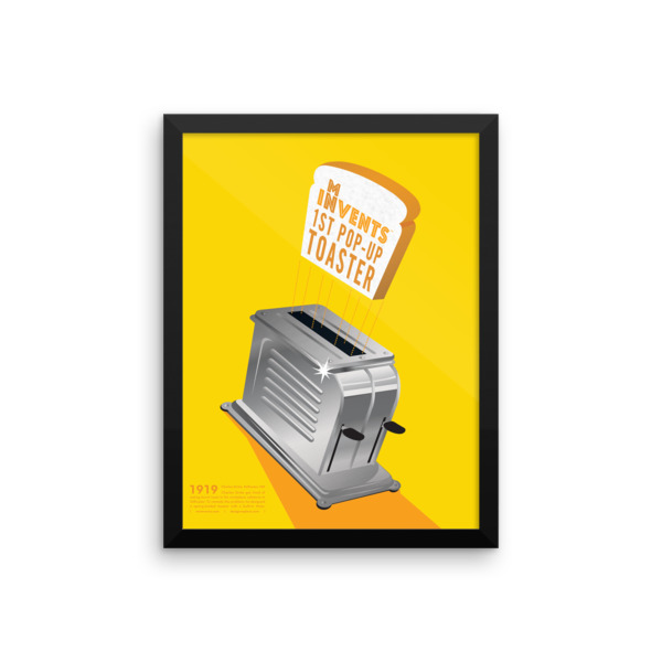 Pop-Up Toaster Poster Framed