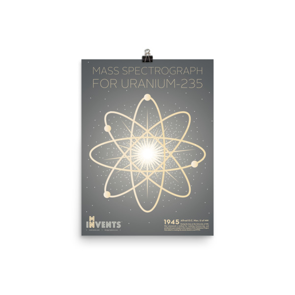 U-235 Mass Spectrometer Poster