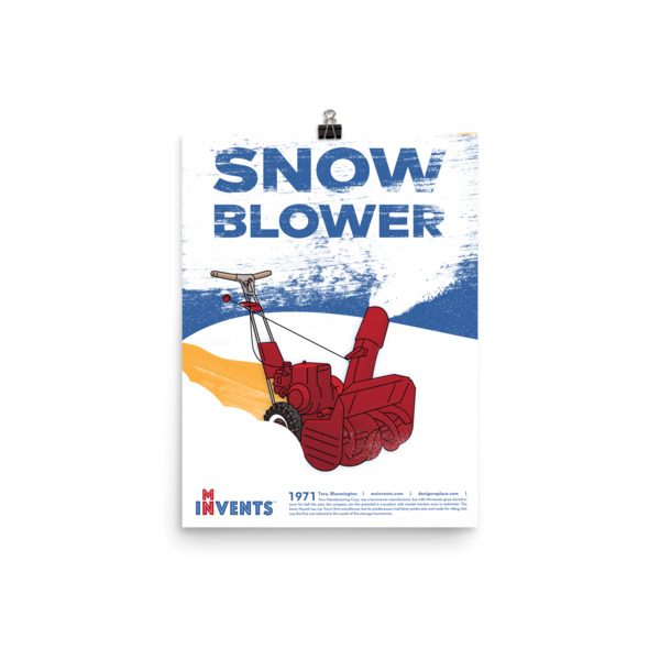 Snow Blower Poster