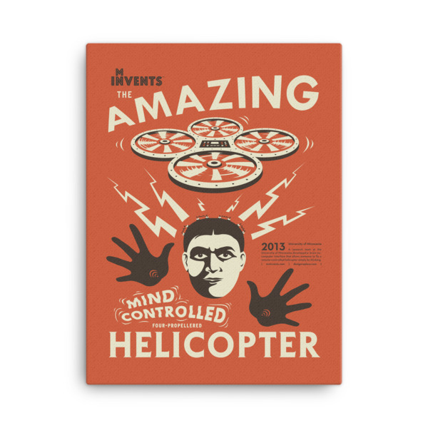 Mind-Controlled Helicopter Poster Canvas
