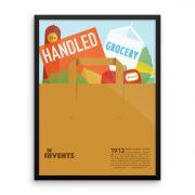 Handled Grocery Bag Poster Framed