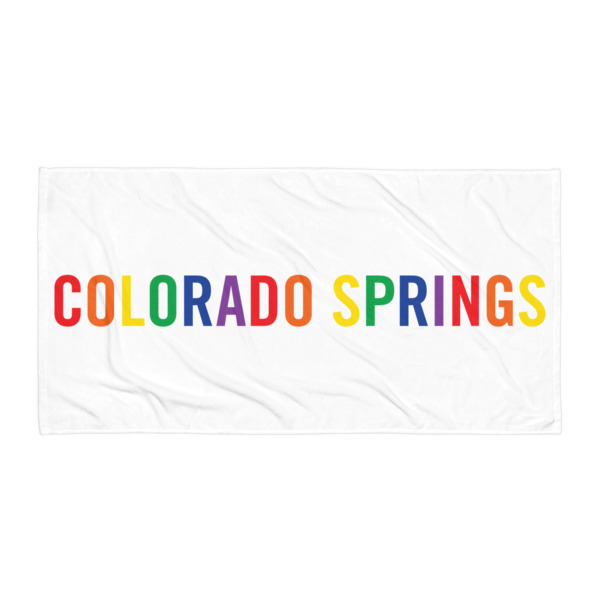 Colorado Springs Pride Beach Blanket 2