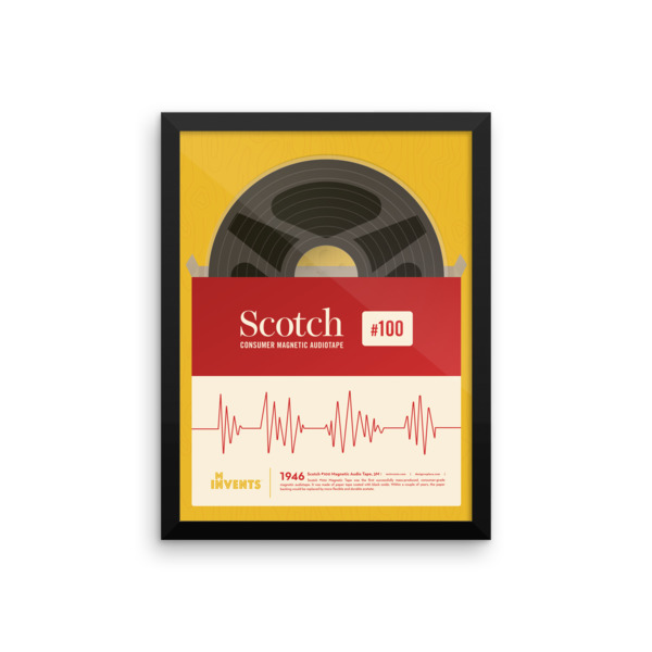 Scotch Consumer Magnetic Audiotape Poster Framed