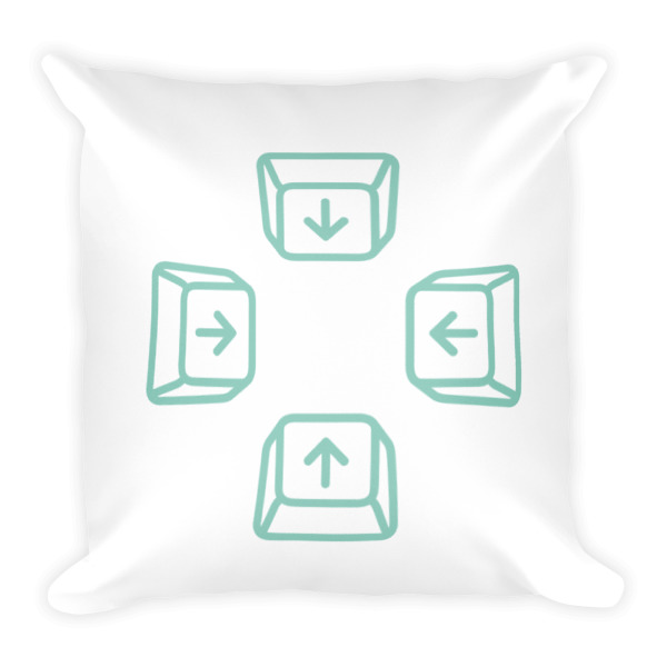 Escape Key Arrows Pillow
