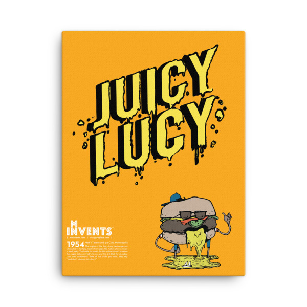 Juicy Lucy Poster Canvas