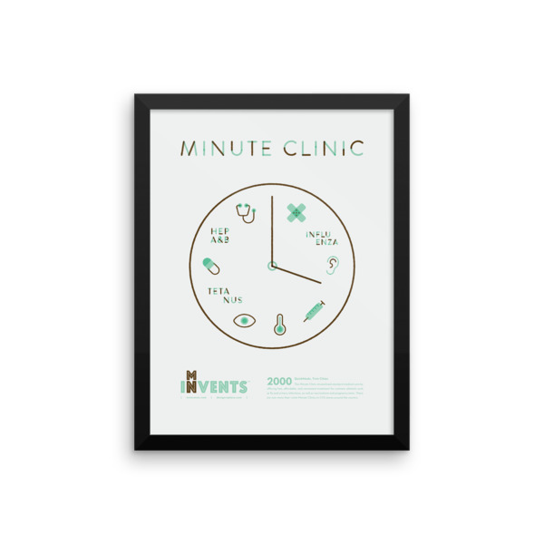 Minute Clinic Poster Framed