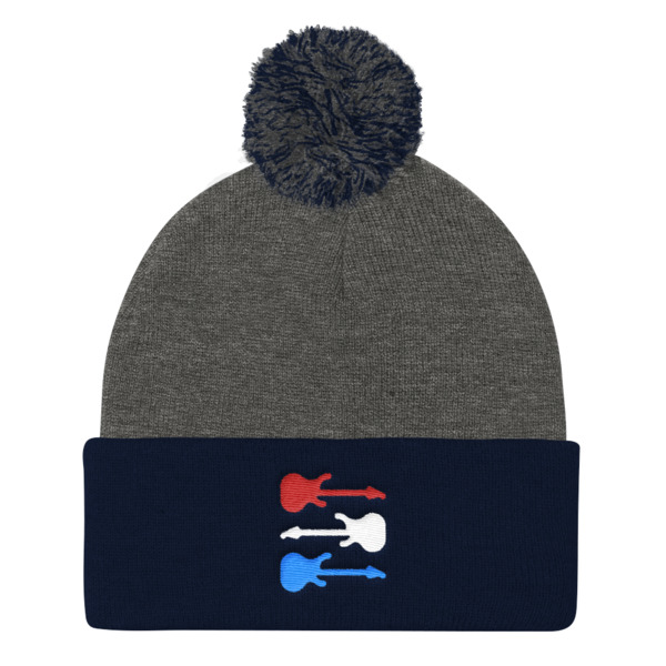 Freedom Fun Guitars Pom Pom Beanie