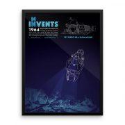 ALVIN Submarine Poster Framed