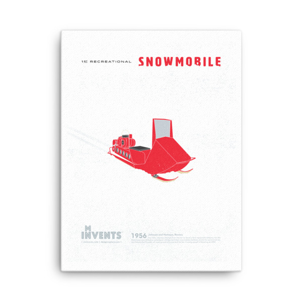 Snowmobile Poster Canvas