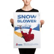Snow Blower Poster Canvas