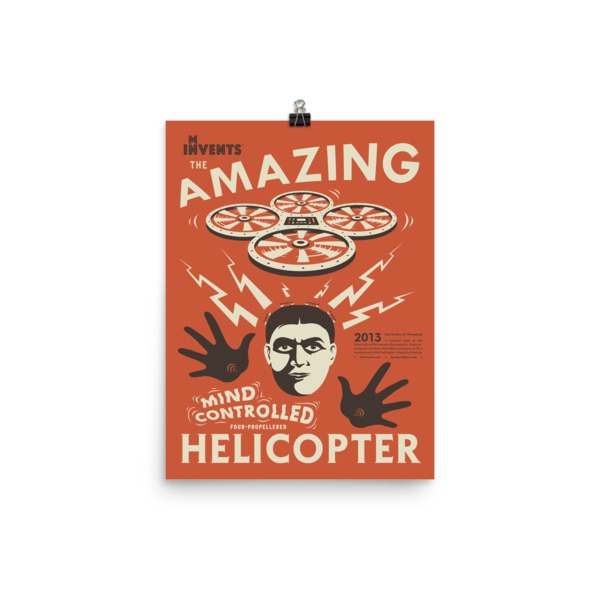 Mind-Controlled Helicopter Poster