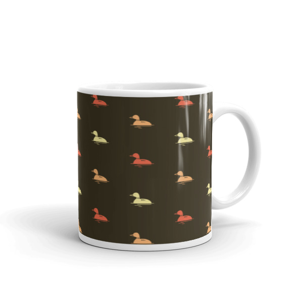 Nokomis Loon Pattern 2 Mug