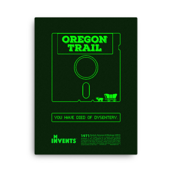Oregon Trail Poster Canvas