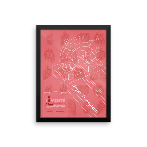 Organ Transplants Poster Framed