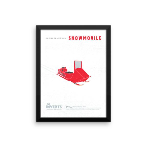 Snowmobile Poster Framed